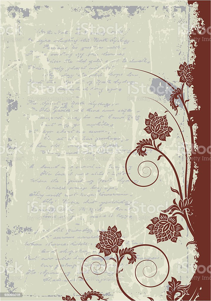 Grunge floral frame background royalty-free grunge floral frame background stock vector art & more images of abstract
