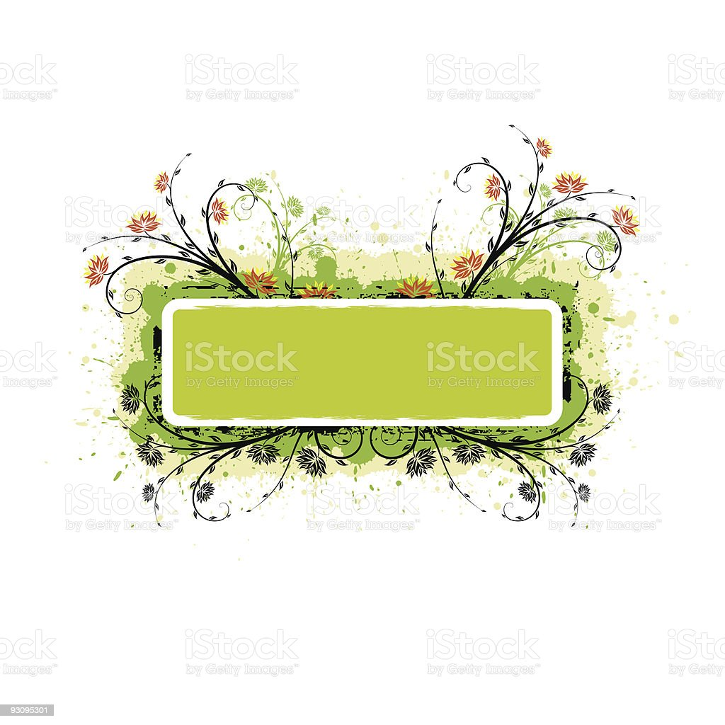 Grunge Floral Frame royalty-free grunge floral frame stock vector art & more images of abstract