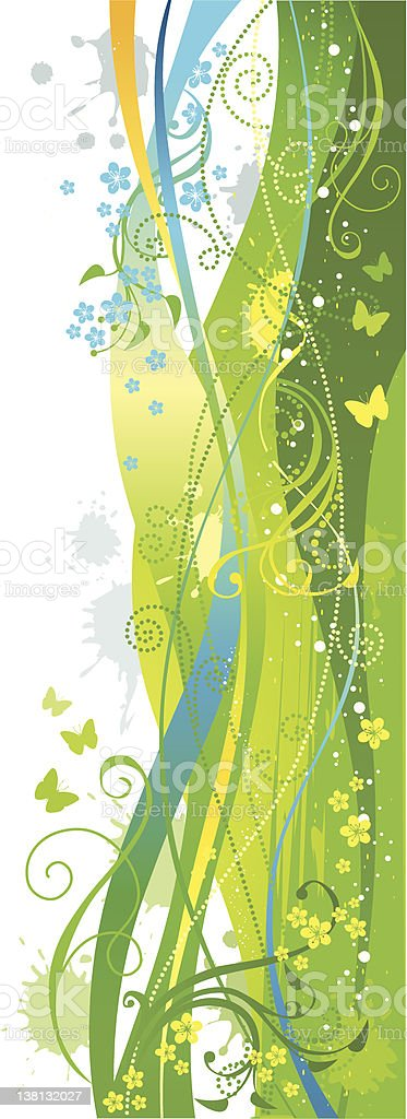 Grunge floral ornament on a white background royalty-free stock vector art