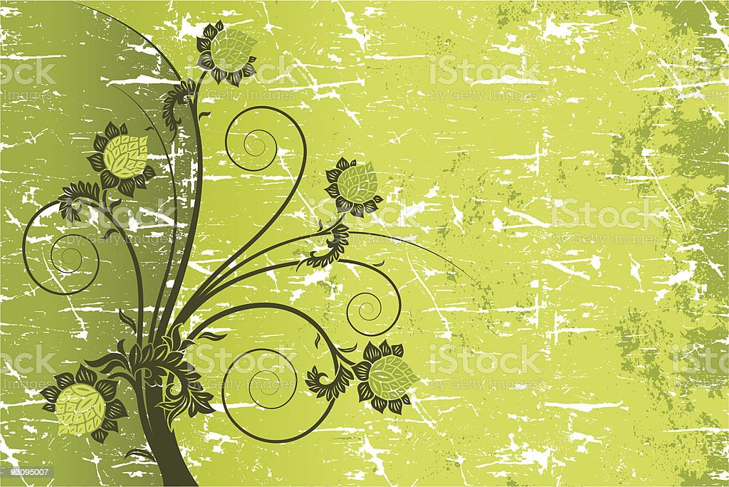 Grunge floral royalty-free grunge floral stock vector art & more images of abstract