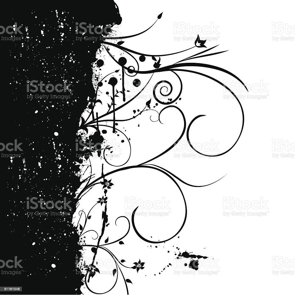 grunge flower ornament royalty-free stock vector art