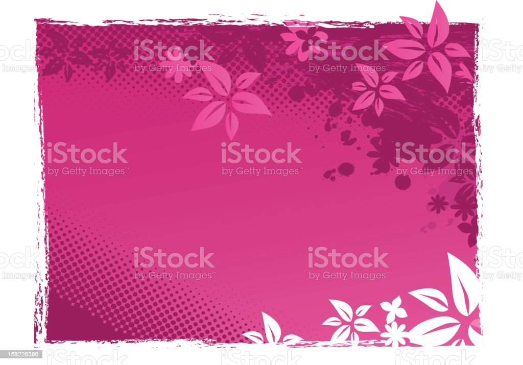 Grunge Flowery Pattern royalty-free stock vector art
