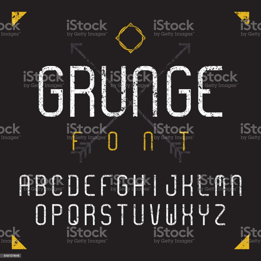Grunge font, vector illustration vector art illustration