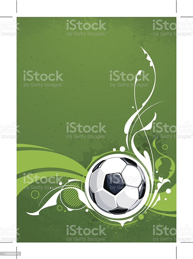 Grunge football background royalty-free stock vector art