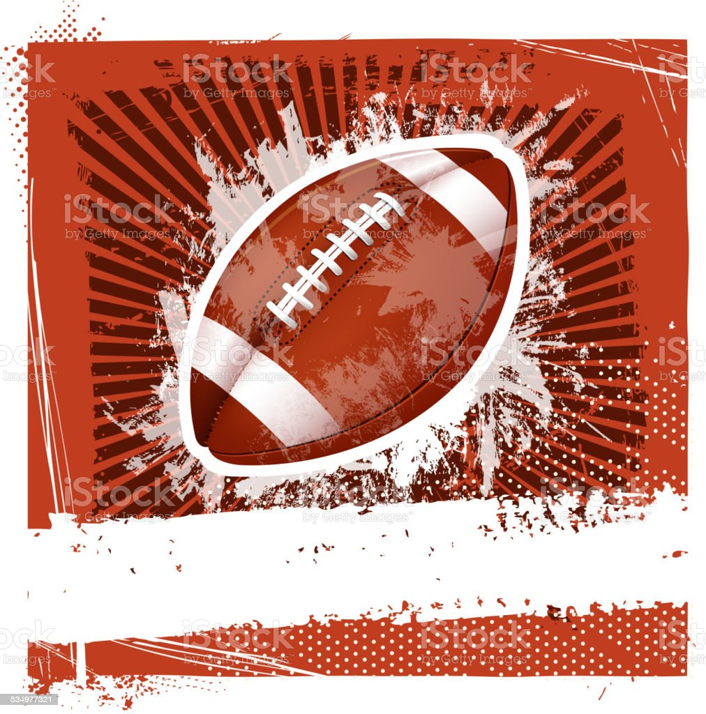 grunge football background vector art illustration