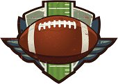 Grunge Football Crest with field