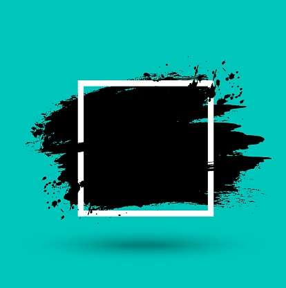 Grunge frame, background with paint stroke texture