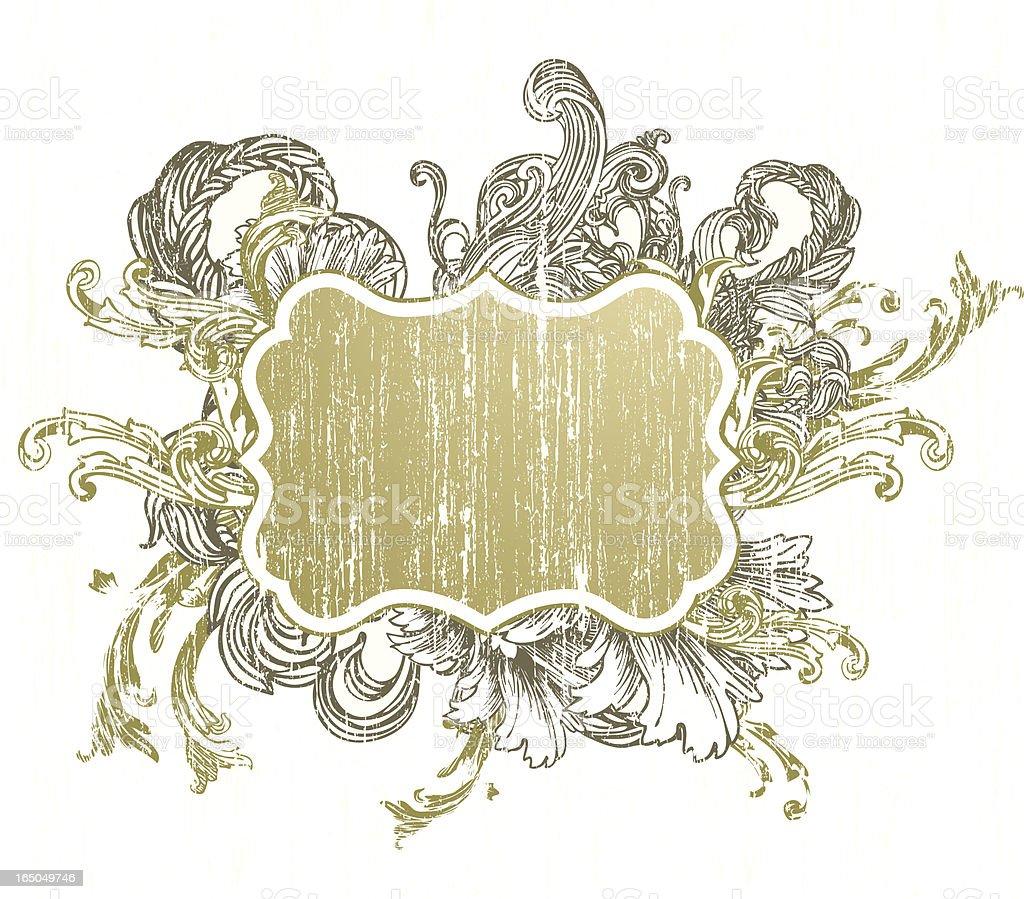 Grunge Frame IV royalty-free stock vector art