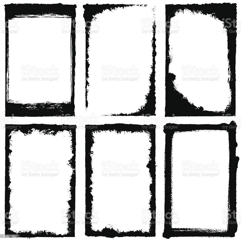 Grunge juego de bastidor - ilustración de arte vectorial