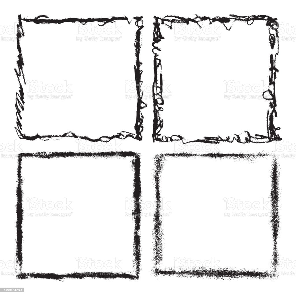 Ilustración de Grunge Marco Textura Conjunto Plantilla De Diseño ...