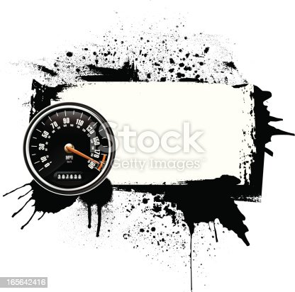 istock Grunge frame with speedometer 165642416