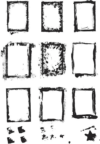Grunge-Frames – Vektorgrafik