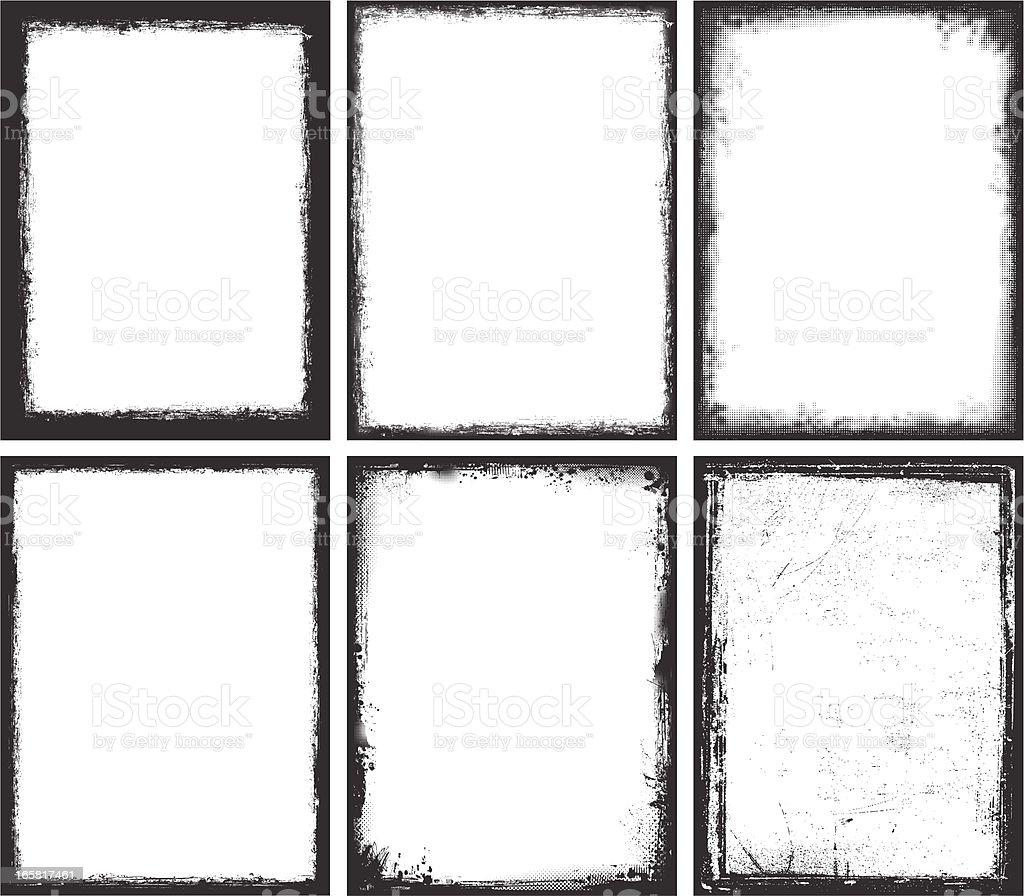 Grunge Frames royalty-free stock vector art