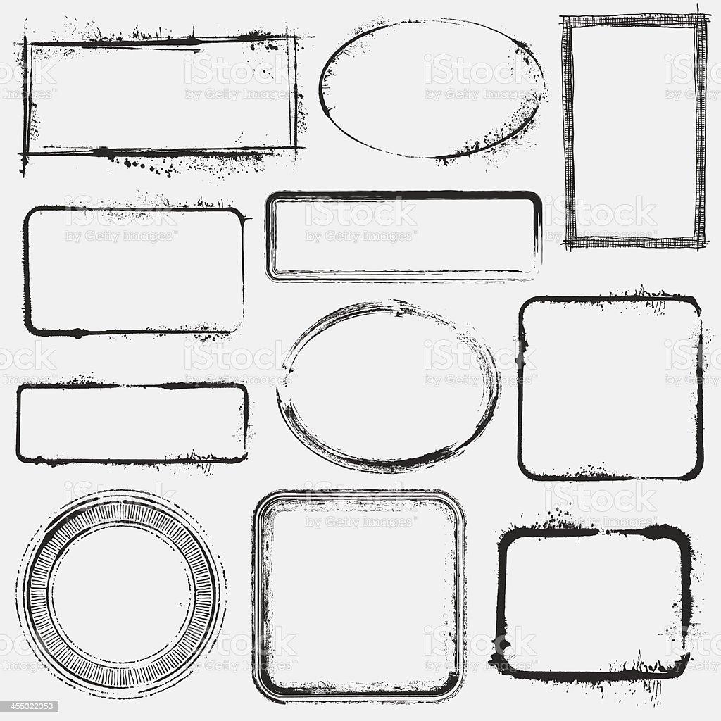 Grunge de fotogramas - ilustración de arte vectorial