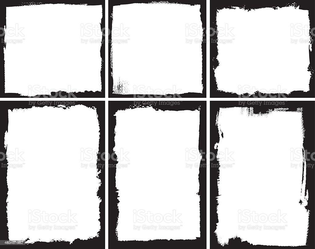 Grunge frames royalty-free grunge frames stock illustration - download image now