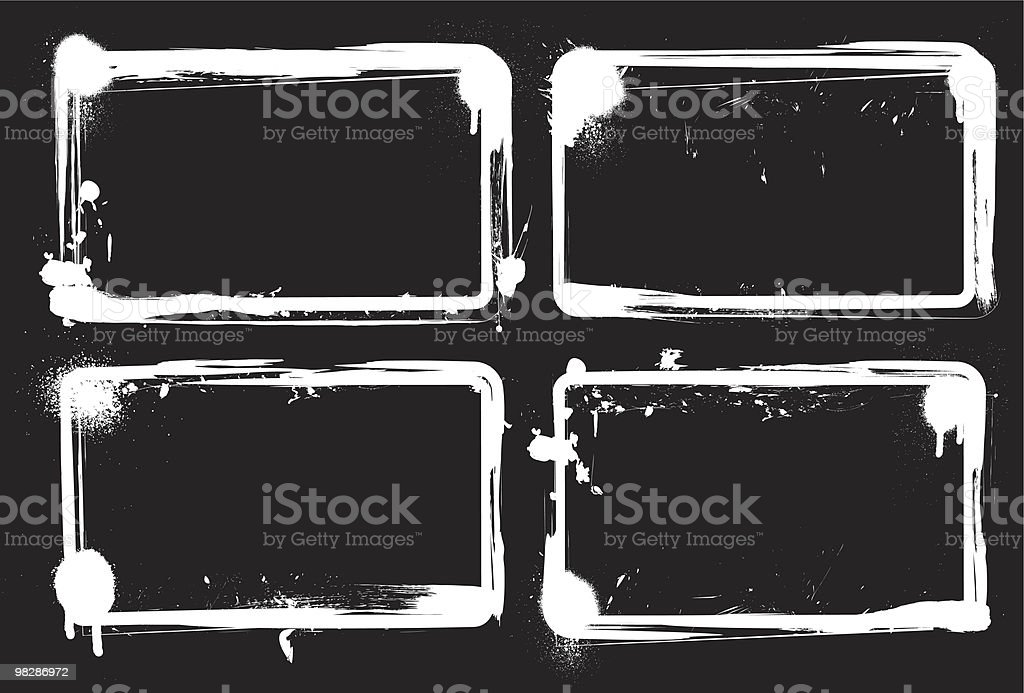 Grunge Frames royalty-free grunge frames stock vector art & more images of abstract