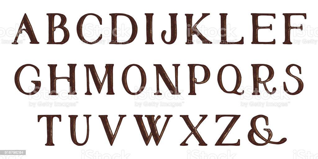 Vetor De Alfabeto Completo De Grunge Sorteio De Mão Letras De Vetor