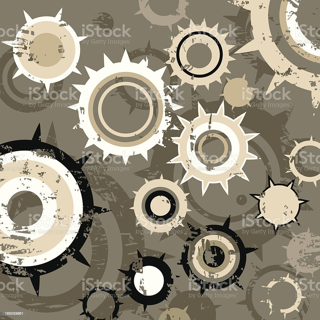 Grunge Gears Background royalty-free grunge gears background stock vector art & more images of abstract