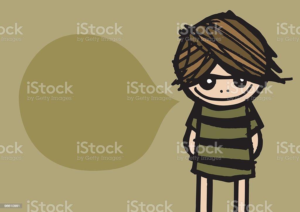 Grunge Girl - Royaltyfri En människa vektorgrafik