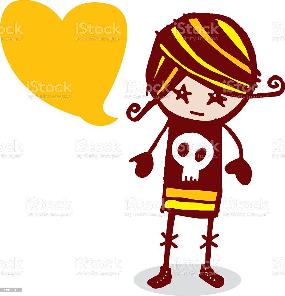 Grunge Girl - Royaltyfri Barn vektorgrafik