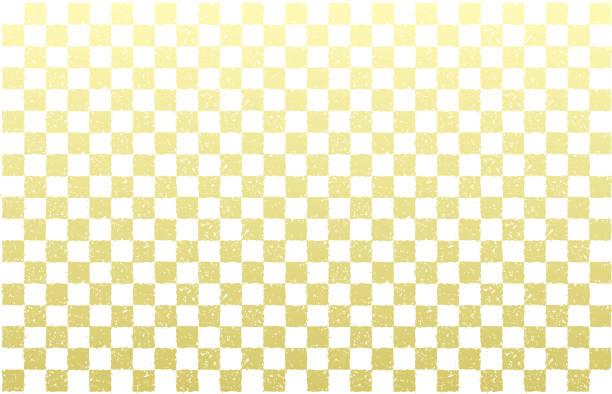 グランジゴールドタイル背景 (日本の伝統的なパターン)/新年のグリーティングカードのデザインのために。 - パターンや背景点のイラスト素材/クリップアート素材/マンガ素材/アイコン素材