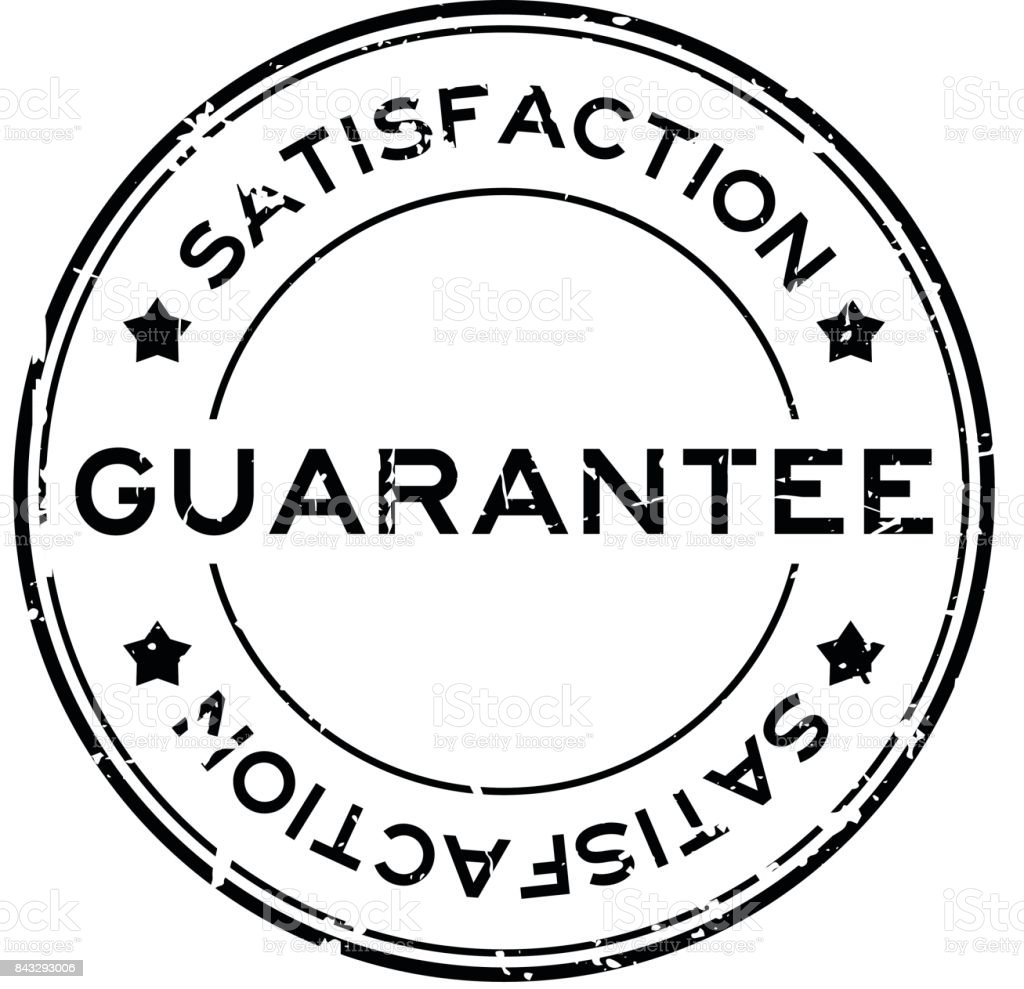 Grunge guarantee satisfaction round rubber seal stamp on white background vector art illustration