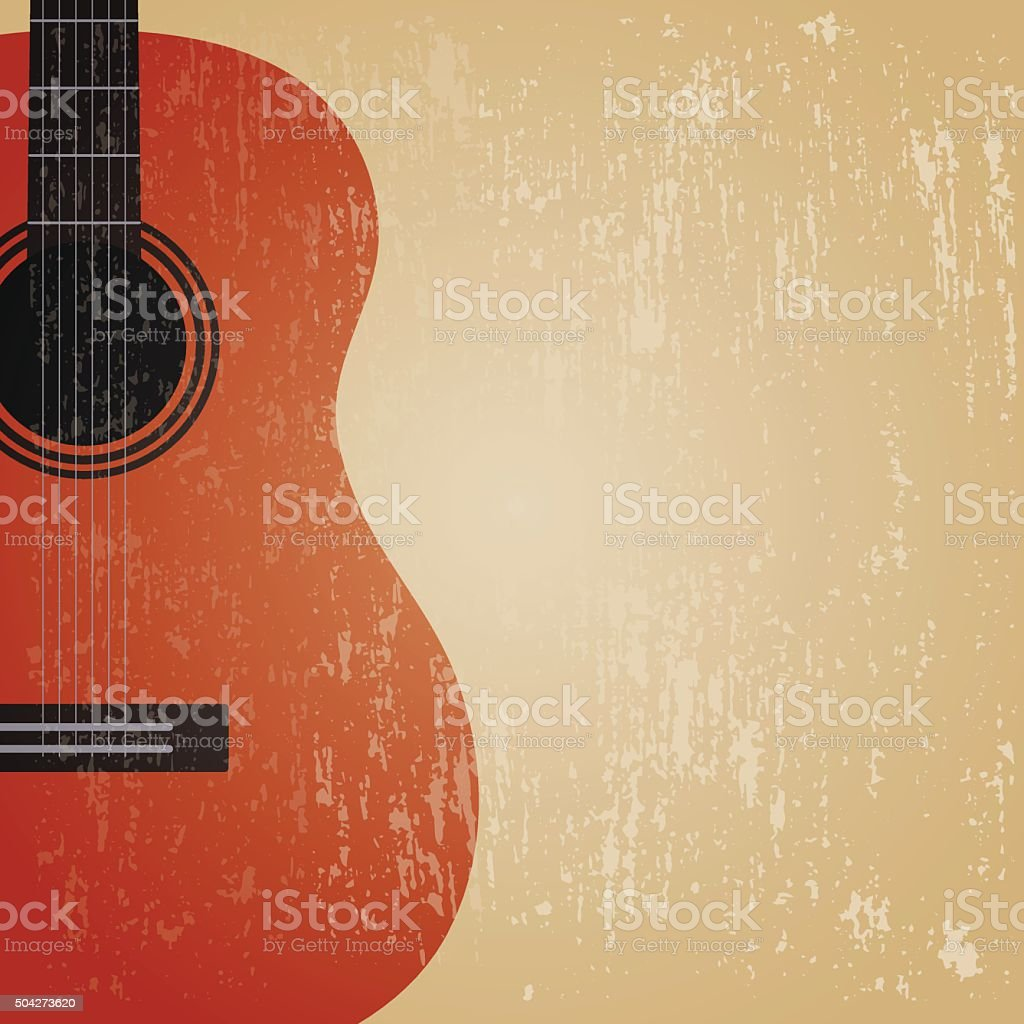 grunge guitar vector art illustration