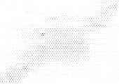 istock Grunge halftone texture background. Monochrome abstract vector overlay 1185841099