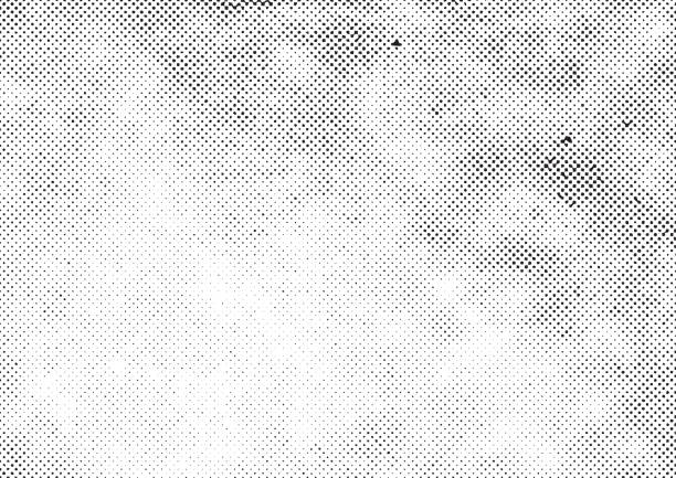 grunge halftone vector print background - half tone stock illustrations, clip art, cartoons, & icons