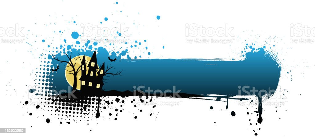 Grunge halloween background royalty-free stock vector art