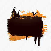 Vector illustration of a grunge Halloween background.