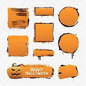 Vector illustration of grunge halloween backgrounds.