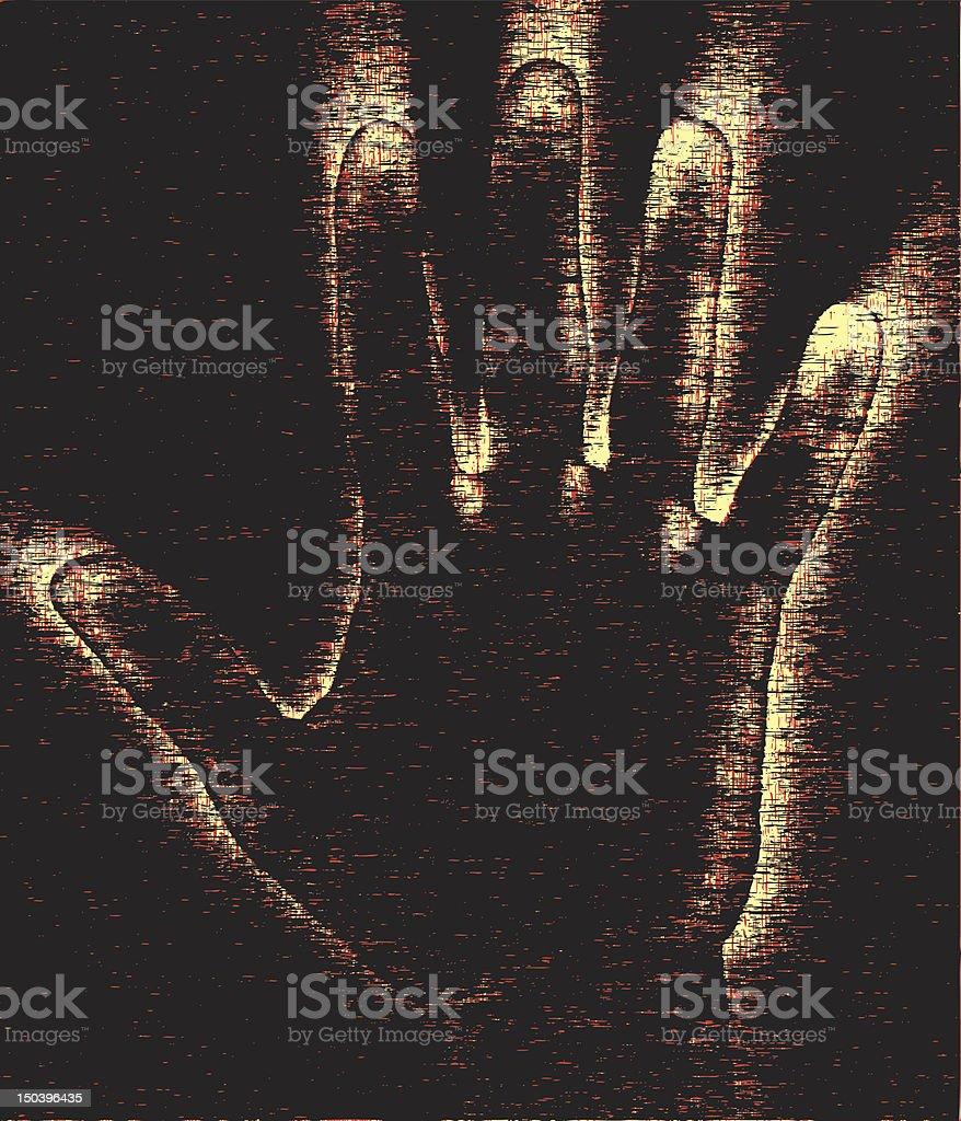 Grunge hand vector art illustration