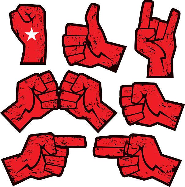 grunge hands vector art illustration