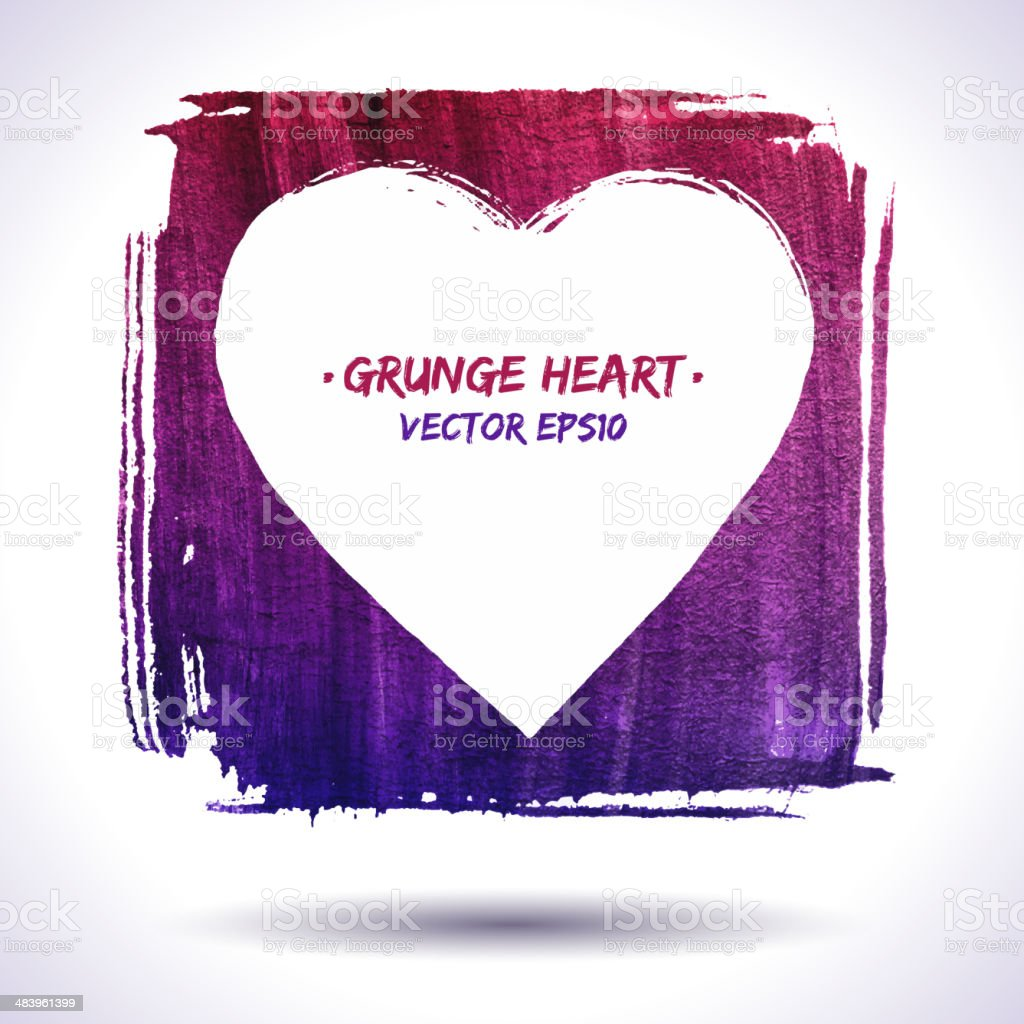 Grunge heart vector background royalty-free grunge heart vector background stock vector art & more images of abstract