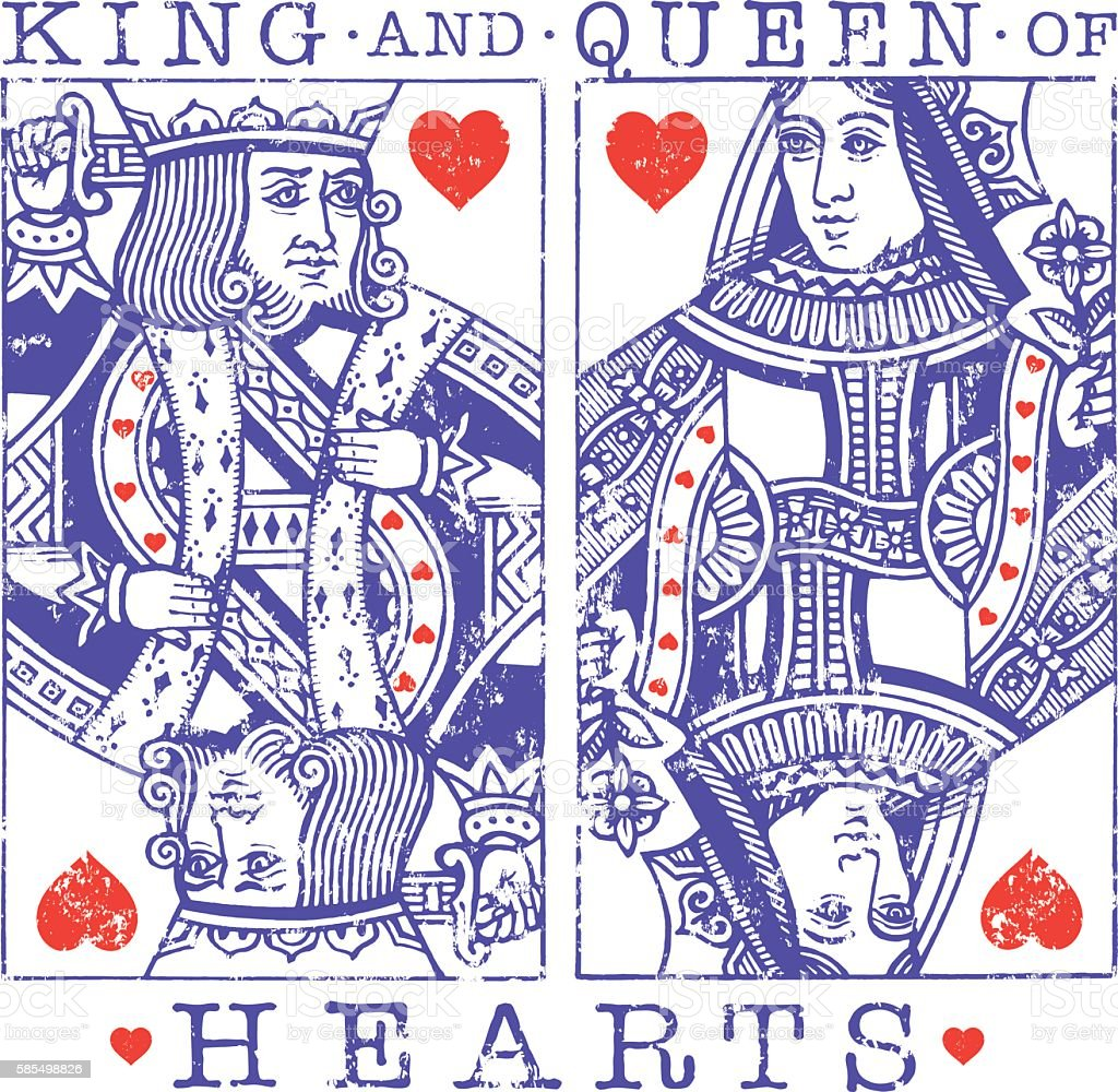 Grunge hearts illustration vector art illustration