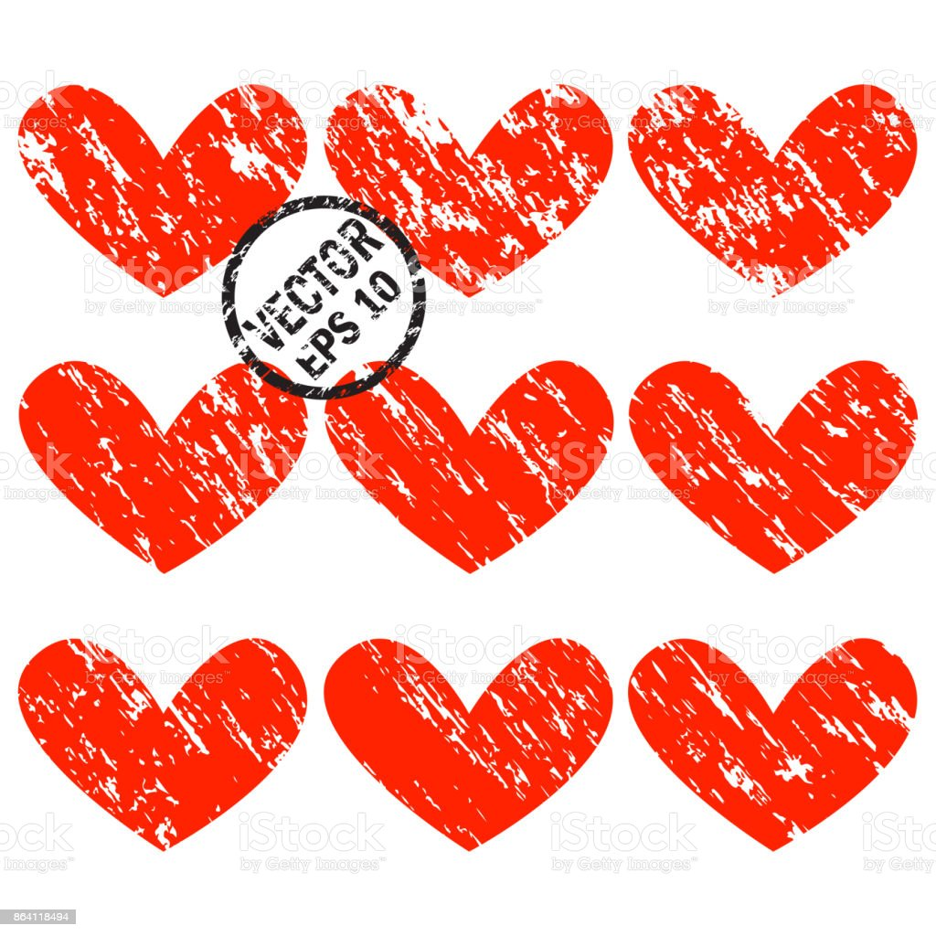 Grunge hearts royalty-free grunge hearts stock vector art & more images of abstract
