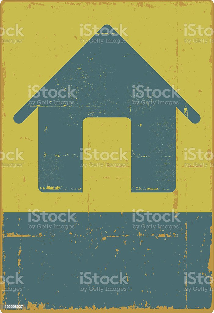 Grunge House Sign royalty-free stock vector art