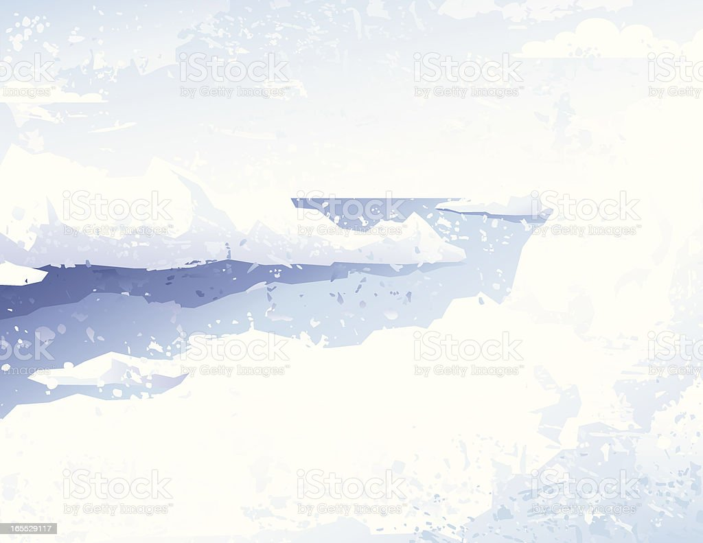 Grunge icescape royalty-free stock vector art