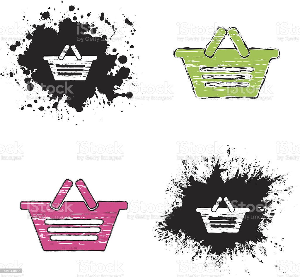 grunge icons - basket royalty-free stock vector art