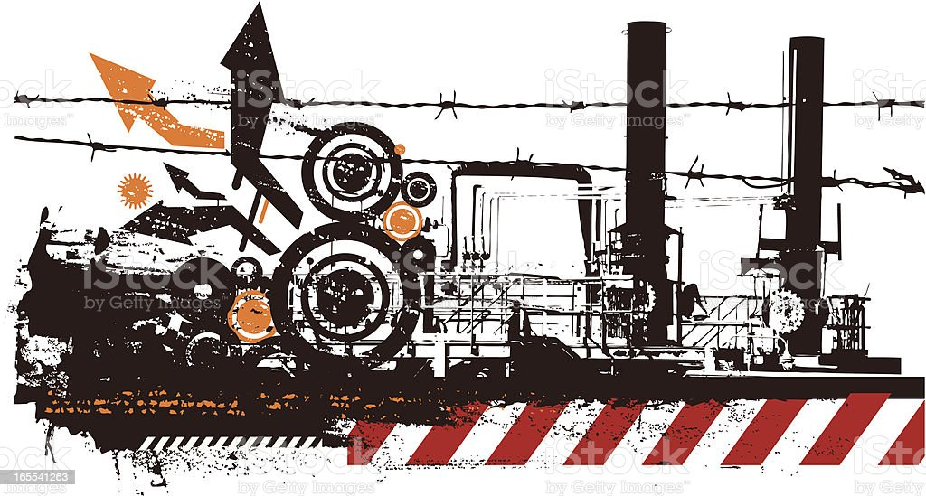 Grunge industrial royalty-free grunge industrial stock vector art & more images of built structure