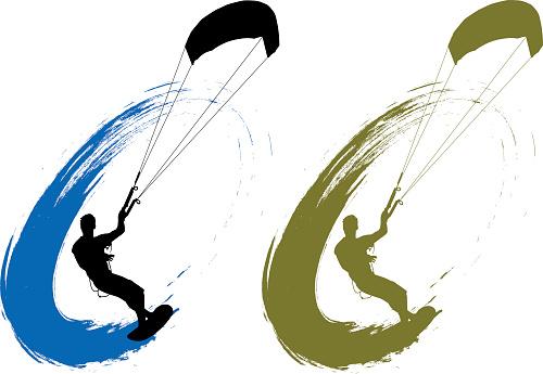 Grunge Kite Surfing
