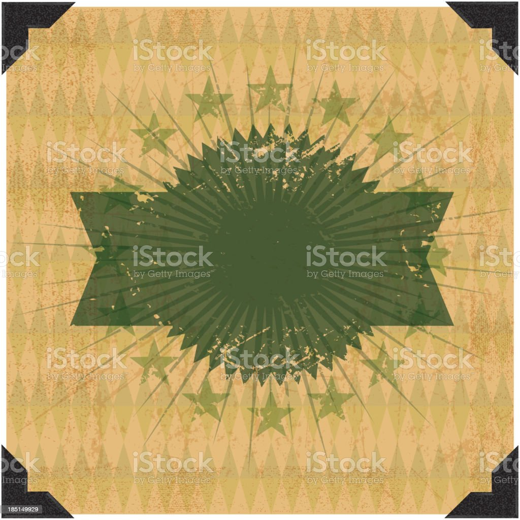 Grunge Label Background - Success royalty-free stock vector art
