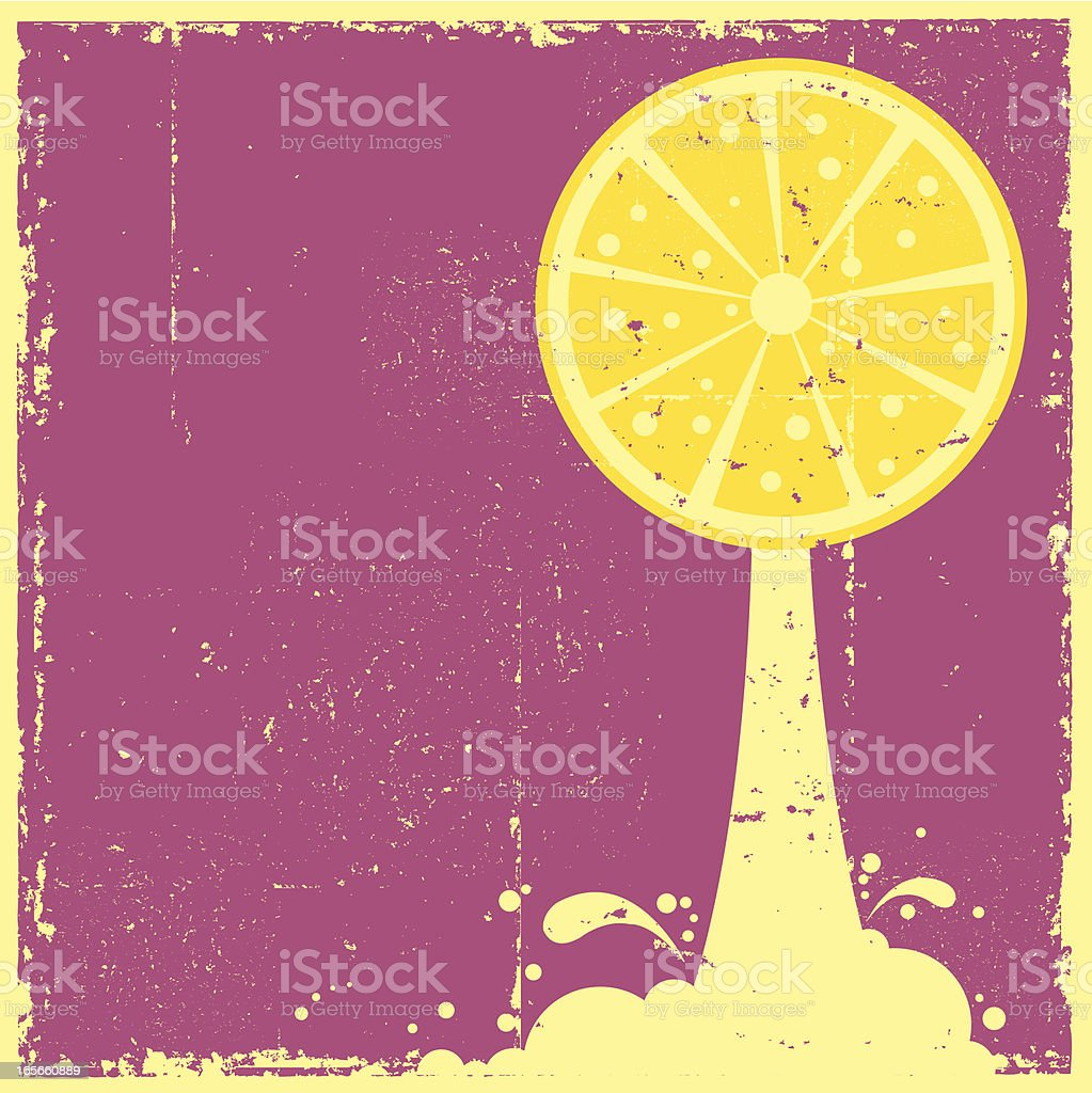 Grunge Lemon Juice royalty-free grunge lemon juice stock vector art & more images of backgrounds