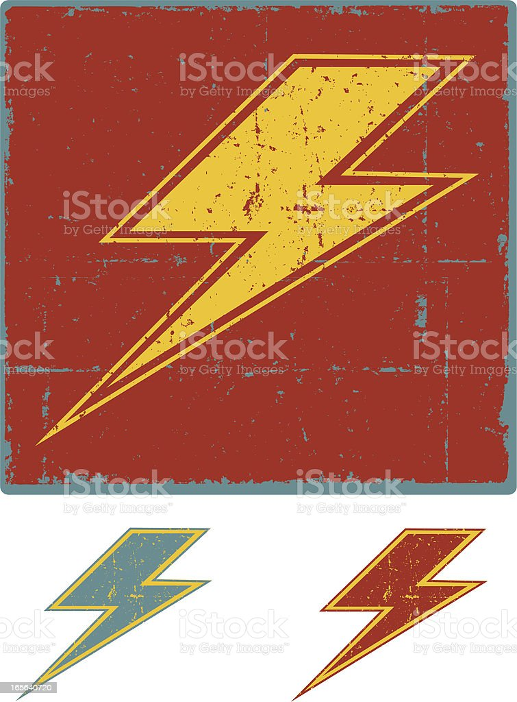 Grunge Lightning Bolt royalty-free stock vector art