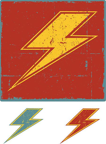 Grunge Lightning Bolt Lightning Bolt Symbol forked lightning stock illustrations