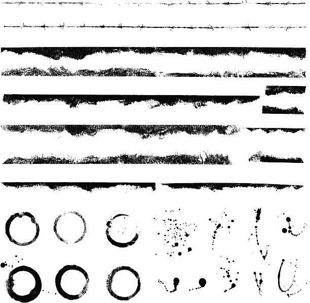 Grunge líneas y splatters de - ilustración de arte vectorial