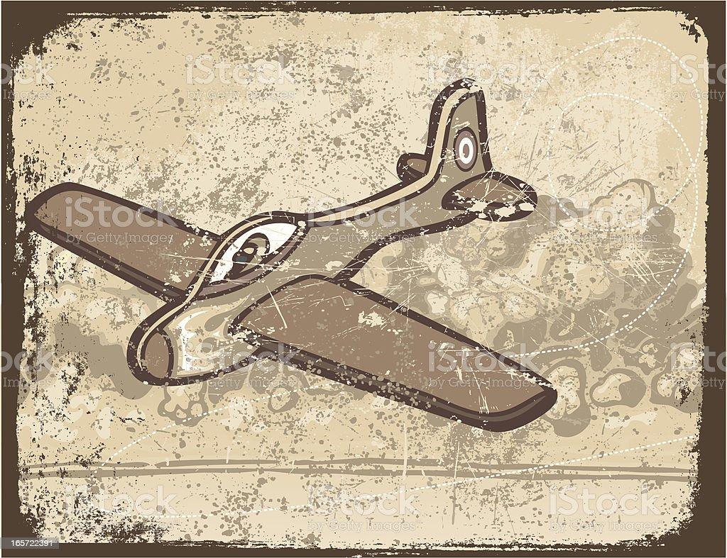 Grunge Model Airplane royalty-free stock vector art