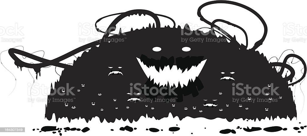 Grunge Monsters royalty-free stock vector art