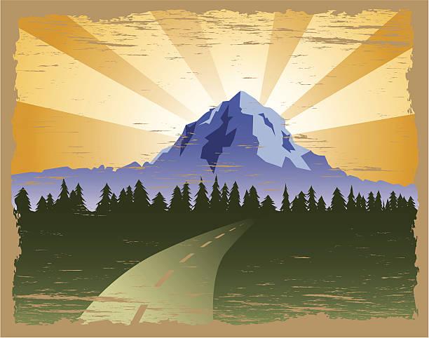 grunge-mountain - nationalpark stock-grafiken, -clipart, -cartoons und -symbole